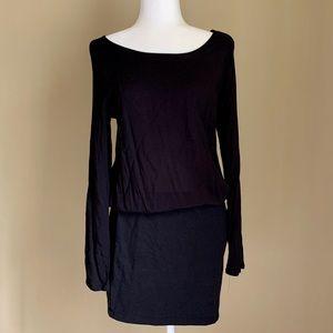 Splendid Rayon/Cotton Black Mini Dress, Size M